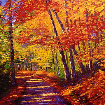 New England Autumn Maple Road by sesillie