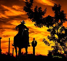 Cowboy on the Range by George Lenz