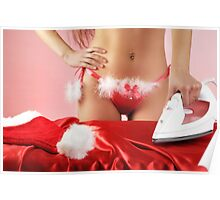 Sexy young woman getting ready for Christmas Poster
