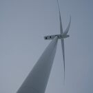 Wind Turbine Up Close - Wolfe Island, Ontario, Canada by Allen Lucas