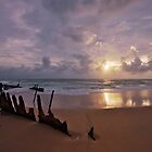 SS Dicky Wreck At Dawn by Nigel Marshall