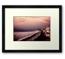 THE GRAND STRAND AS THE DAWN BREAKS IN PINK CLOUDS Framed Print