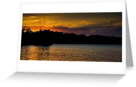 Sunset over Narrabeen by John Buxton