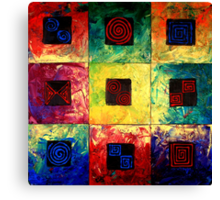 Spiral Symmetry Canvas Print