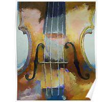 Violin Painting Poster