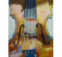 Violin Painting Photographic Print