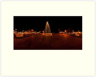 Bendigo Christmas Tree Panorama by Marcus Mawby