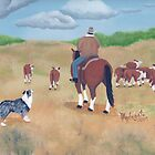 Get Along ~ Australian Shepherd ~ Oil Painting by Barbara Applegate