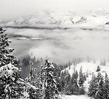 Sun Mountain Snow Storm by masterofmadness