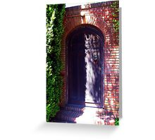 Filoli Gardens Door, Woodside, San Francisco Bay Area, California Greeting Card