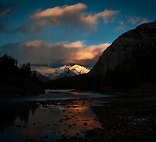 Bow River, Banff, Alberta, Canada by Charles Plant