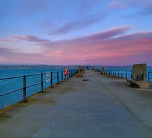 Weymouth pier at sunset by Gary Heald LRPS