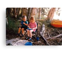 Kids Camping Canvas Print