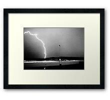 Beached Lightning - Sydney - NSW - Australia Framed Print
