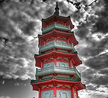 Temple of 10,000 Buddhas - Pagoda HDR by HKart