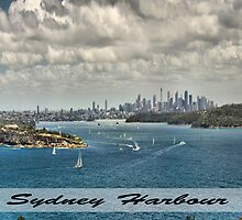 Sydney Harbour Panoramic Shot by Russell  Burgess
