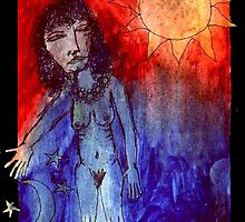 She Who Contains The Sun, Moon And Stars by Dee Sunshine
