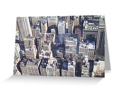 New York Rooftops from the Empire State Building Greeting Card