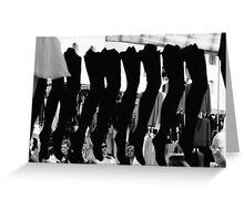 Stockings, Street market, Castelfranco, Italy Greeting Card