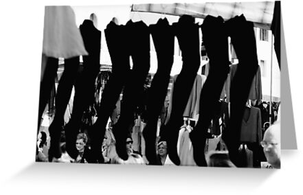 Stockings, Street market, Castelfranco, Italy by Andrew Jones