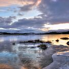 Frozen Loch Tulla by shutterjunkie