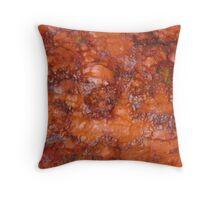 Lumps of Orange Rust Throw Pillow