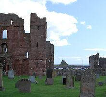 Lindisfarne Priory and Castle by Tony Reed