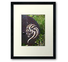 Maori Stencil Art Framed Print