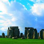Great Britain. Stonehenge with Green and Blue. 2009 by Igor Pozdnyakov