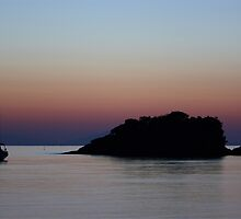 Crescent Moon over Isola d' Elba by Stefano  De Rosa