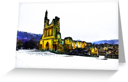 Byland Abbey in Winter by Trevor Kersley