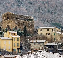 Snow on Provence village by Patrick Morand