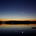 The Moon and morning planets (Saturn, Venus and Mercury) by Stefano  De Rosa