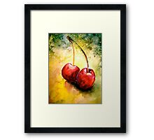 Cherries..Two... Framed Print