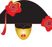 venice mask  by Aleksandra Misic