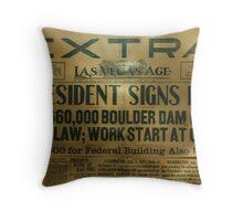 Las Vegas Age, Thursday Morning, Luly 3, 1930 Throw Pillow