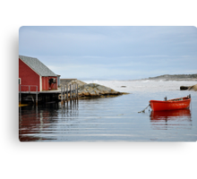 Red Boat - Peggy's Cove Nova Scotia Canvas Print