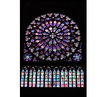 Notre Dame Cathedral Rose Window, Paris, France Photographic Print