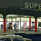 Superlight - After Dark at the Supermarket : Acrylic by Patricia Howitt