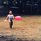 girl with the pink balloon, northern thailand by gary roberts