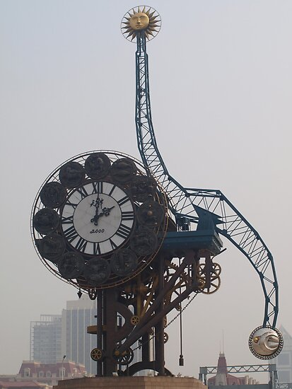 Crazy Clock -- Tianjin, China  by Gorper