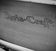 Black & White Chris Craft by Milo Denison