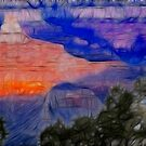 Canyon Sunrise - Soft Sketch by Doug Greenwald