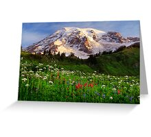 Rainier Wildflowers Greeting Card