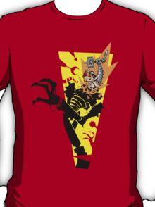 """Tankfist Steelhammer in """"Die Robot DIE!"""" T-Shirt"""