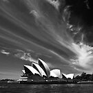 Sydney Opera House in monochrome by Sheila  Smart