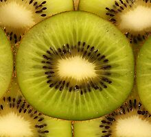 Macro Shot of Kiwi Slices by Tom Prokop