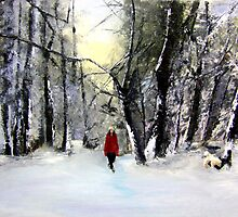 Winter walk by Jennib