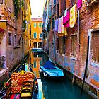 Side Canal, Venice by Sheila Laurens