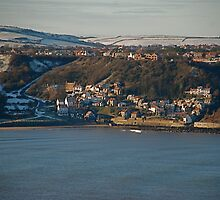 Runswick Bay In Snow by dougie1page2